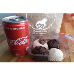 Combo Brigadeiros e Coca-Cola Original