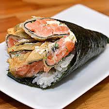 Temaki salmão hot