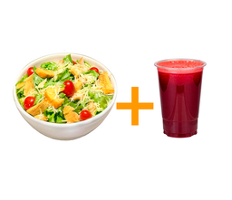 Salada frango Especiarias + Suco 500ml