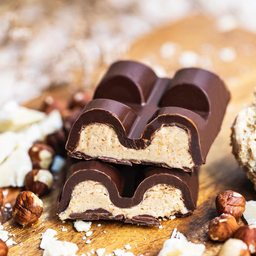 Barra de Chocolate Vegana Recheada de Nutella Branca