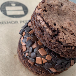 Sanduiche de Brownie - Brigadeiro com Split Belga