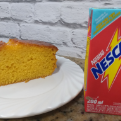 1 faria de bolo (Cenoura ou chocolate) + Nescau 200