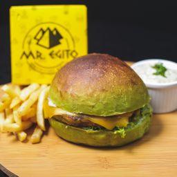 Hambúrguer Vegetariano - Vegetarian Burger- Servidos 2 Wraps