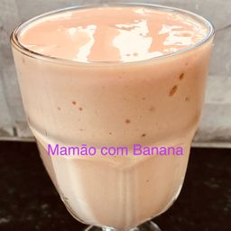 Vitamina com Mamão e Banana 400ml