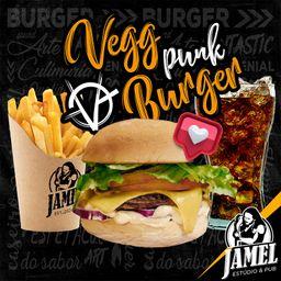 Combo Vegg Punk Burger e Bebida