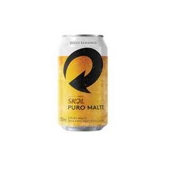 Cerveja Skol Puro Malte - 350 ml