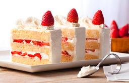 Torta de Morango com Chantilly - Fatia