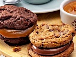 Mini Cookie Sandwich - Recheio Doce de Leite