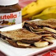 Crepe de Banana com Nutella