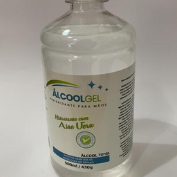 Álcool 70% - 500ml com Aloe Vera