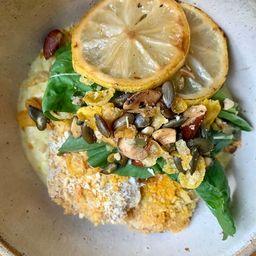 Risoto de Limão Siciliano com Tilápia Crocante