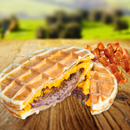 Waffle Bacon Burger