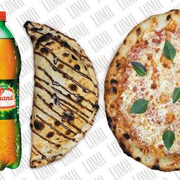 Combo Pizza Grande com Calzone Doce e Bebida 1,5L