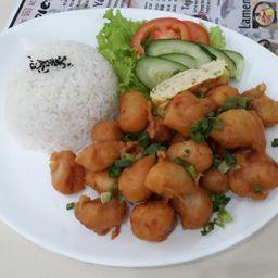 椒盐鸡丁饭 Combo 11