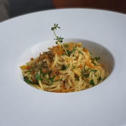 Espaguete com botarga