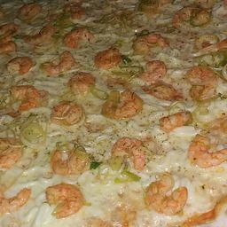 Pizza de Camarão com Cream Cheese