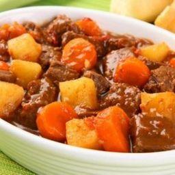 Carne de panela com legumes
