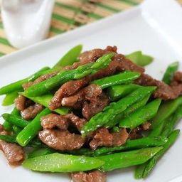 Fatias de Carne com Aspargo