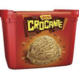 Sorvete crocante Garoto de 1,5 lt