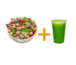 Salada mediterrânea média + suco 500ml