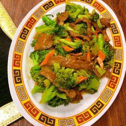 西兰花炒牛肉 Carne com Brócolis