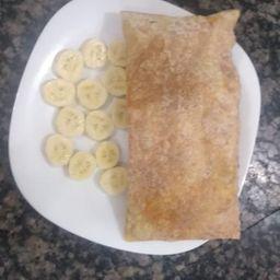 Banana em rodelas com leite condensado