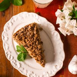 Torta integral de maçã (vegano).