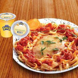 Chicken Rizzo e Suco Spres 200ml