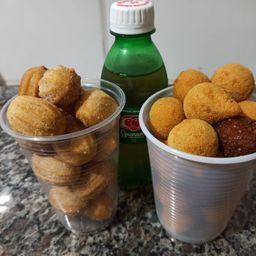 Copo G Mini Salgados + Copo M Mini Churros + Refri Caçulinha