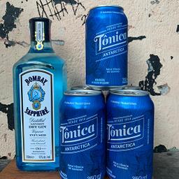 Garrafa de Gin Bombay + 6 Tonicas