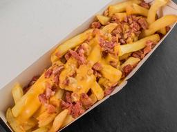 Fries cheddar melt e bacon