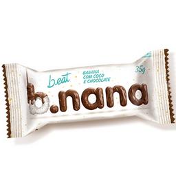 Banana com coco e chocolate