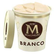 Sorvete Kibon Magnum Branco - 440ml