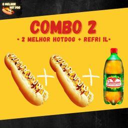 2 Hot Dogs 30 Cm + Refrigerante 1 Litro