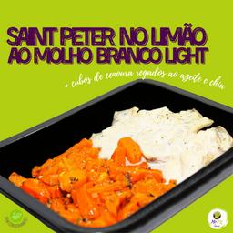 S. Peter No Limão e Molho Branco Light(150g) + Cenoura (100g)
