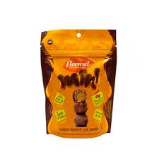 Mini bombom crocante com caramelo Flormel 54 g