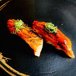 Nigiri Duplas - Barriga Salmon Spicy
