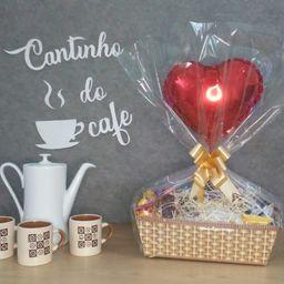 Cesta de Café do Coração