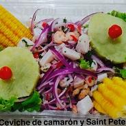 Ceviche mixto de Saint Peter con camarón