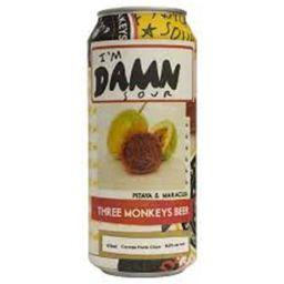 Three Monkeys Im Damn Sour Pitaya e Maracuja Lata 473 ml
