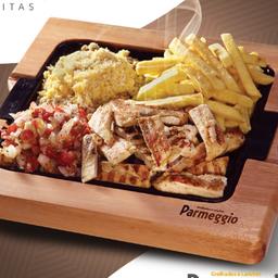 Porção Filé de Frango + Vinagrete + Farofa + Fritas