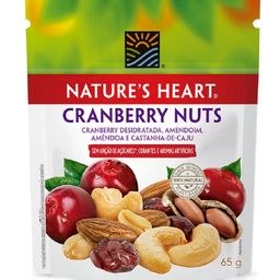 Snack Natures Heart Cranberry Nuts - 65g