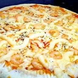 Pizza de camarão com catupiry