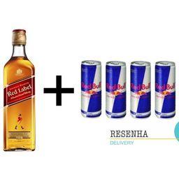 Combo Whisky Red Label + Redbull