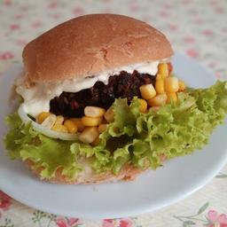 Hambúrguer de Feijão Vegatariano/ Vegano