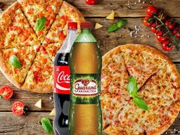 Combo Pizzas Calabresa e Queijo