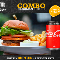 Combo Brazilian Burger - Smash 65g + Bebida + Batata