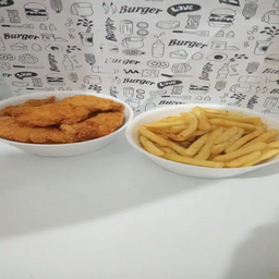 Filé de Frango crocante batata frita