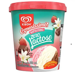 Pote Kibon Cremosíssimo Napolitano Zero Lactose - 800ml