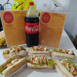 Combo Hot Dog e Coca-Cola Original 2L